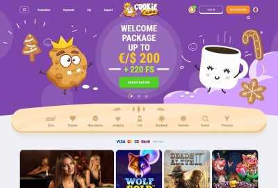 Cookie Casino Homepage
